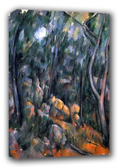 Cezanne, Paul: Forest with the Rock Caves Above the Chateau Noir. Fine Art Canvas. Sizes: A3/A2/A1 (001022)